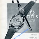 1957 Titus Watch Company Solvil et Titus SA Switzerland Swiss Ad Advert Suisse
