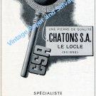 1957 Chatons S.A. Manufacture de Pierres Le Locle Switzerland Swiss Ad Publicite