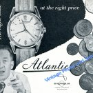 1957 Atlantic Watch Co Ed Kummer SA The Right Time at the Right Price Swiss Ad