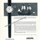 Vintage 1957 Enicar Watch Company The Mayflower's Treasure Swiss Ad Advert Suisse 1950s Switzerland