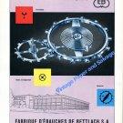 Ebauches Fabrique d'Ebauches de Bettlach SA Switzerland Vintage 1957 Swiss Ad Advert Suisse