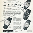 Breitling Serves the World's Best Aircraft Lockheed United Airlines KLM 1957 Swiss Ad Advert Suisse