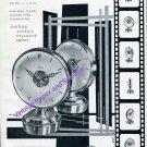 Vintage 1957 Angelus Stolz Freres SA Double Dial Alarm Clock Advert Swiss Ad Publicite Suisse