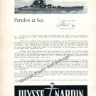 Ulysse Nardin Marine Chronometer Watch Advert Paradox at Sea 1957 Swiss Print Ad Advert Suisse