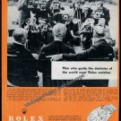 Vintage 1957 Rolex Oyster Perpetual Datejust Advert Men Who Guide the Destinies of World Swiss Ad