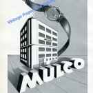Vintage 1950 Mulco Watch Company Switzerland Swiss Ad Advert Suisse Mulco S.A.