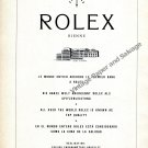 1959 Rolex 380,000 Chronometers Vintage 1950s Swiss Ad Advert Suisse Switzerland