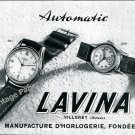 1950 Lavina Automatic Watch Advert Vintage Swiss Print Ad Suisse Switzerland