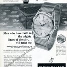 Vintage 1959 Breitling TransOcean Chronometer Watch Advert Age of Space Exploration Swiss Ad Suisse