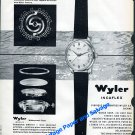 Vintage 1958 Wyler Incaflex Watch Advert Swiss Print Ad Suisse Montres Wyler SA Switzerland