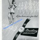 1948 Breitling Watch Company A Fine Leader and a Fine Cast Swiss Ad Advert Suisse