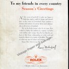 1948 Rolex Season's Greetings to My Friends in Every Country Hans Wilsdorf Swiss Ad Advert Suisse