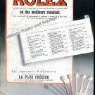Vintage 1943 Vintage Rolex Watch Company Switzerland 1940s Swiss Print Ad Advert Suisse