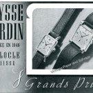 Vintage 1943 Ulysse Nardin Watch Company Switzerland 1940s Swiss Ad Advert Suisse