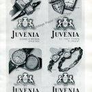 Vintage 1943 Juvenia Watch Company Elegance et Precision 1940s Swiss Ad Advert Suisse