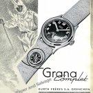 Vintage 1943 Grana Watch Co Kurth Freres SA Switzerland 1940s Swiss Ad Advert Suisse Schweiz