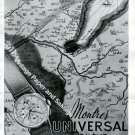 Vintage 1943 Universal Geneve Watch Company Switzerland 1940s Swiss Ad Advert Suisse
