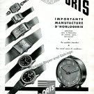Vintage 1943 Oris Watch Co S.A. Holstein Switzerland 1940s Swiss Ad Advert Suisse