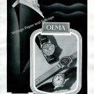 Vintage 1943 Olma Watch Company Numa Jeannin SA Switzerland 1940s Swiss Ad Advert Suisse