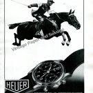 Vintage 1943 Heuer Watch Company 1940s Swiss Ad Advert Suisse Horse Ed Heuer & Co