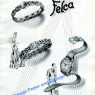 Vintage 1943 Felca Watch Company Grenchen Switzerland 1940s Swiss Ad Advert Suisse