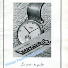 Vintage 1943 Eberhard Watch Company Switzerland 1940s Swiss Ad Advert Publicite Suisse