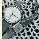 Vintage 1943 Doxa Watch Co Montres Doxa SA Switzerland Original 1940s Swiss Print Ad Advert Suisse
