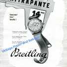 Vintage 1943 Breitling Duograph Split Second Chronograph Watch Advert Swiss Print Ad Suisse