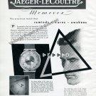 Vintage 1950 Jaeger-LeCoultre Memovox Alarm Wrist Watch Advert Swiss Print Ad Publicite Suisse