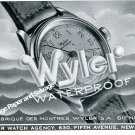 Vintage 1944 Wyler Watch Company Switzerland 1940s Swiss Print Ad Advert Suisse Schweiz