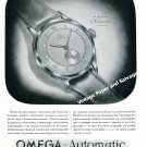 Vintage 1944 Omega Automatic Watch Advert La Montre de l'Avenir 1940s Swiss Ad Advert Suisse
