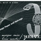 Vintage 1944 Helvetia General Watch Co Bienne Switzerland 1940s Swiss Ad Advert Suisse