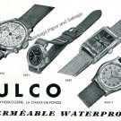 Vintage 1940 Mulco Waterproof Watch Advert Swiss Print Ad Publicite Suisse Switzerland