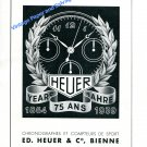 Vintage 1940 Heuer Watch Company 75th Anniversary 1864-1939 Swiss Ad Advert Suisse
