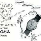 1944 Sigma Watch Company Pery Vintage 1940s Swiss Ad Advert Suisse Switzerland