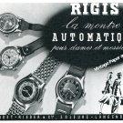 1944 Rigis Watch Company Gigandet-Rieder & Cie Vintage Swiss Ad Advert Suisse