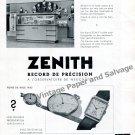 Vintage 1942 Zenith Watch Company Record Neuchatel Observatory Switzerland Swiss Ad Advert Suisse