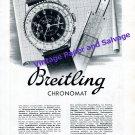 Vintage 1942 Breitling Chronomat Watch Advert 1940s Swiss Print Ad Suisse G-Leon Breitling SA