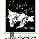Vintage 1942 Marvin Watch Company La Luciole Original 1940s Swiss Ad Advert Suisse Switzerland