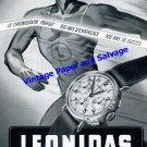 Vintage 1942 Leonidas Watch Factory 100 Year Anniversary 1841-1941 Original Swiss Ad Advert Suisse