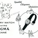 1943 Sigma Pery Watch Company Switzerland Vintage 1940s Swiss Print Ad Suisse
