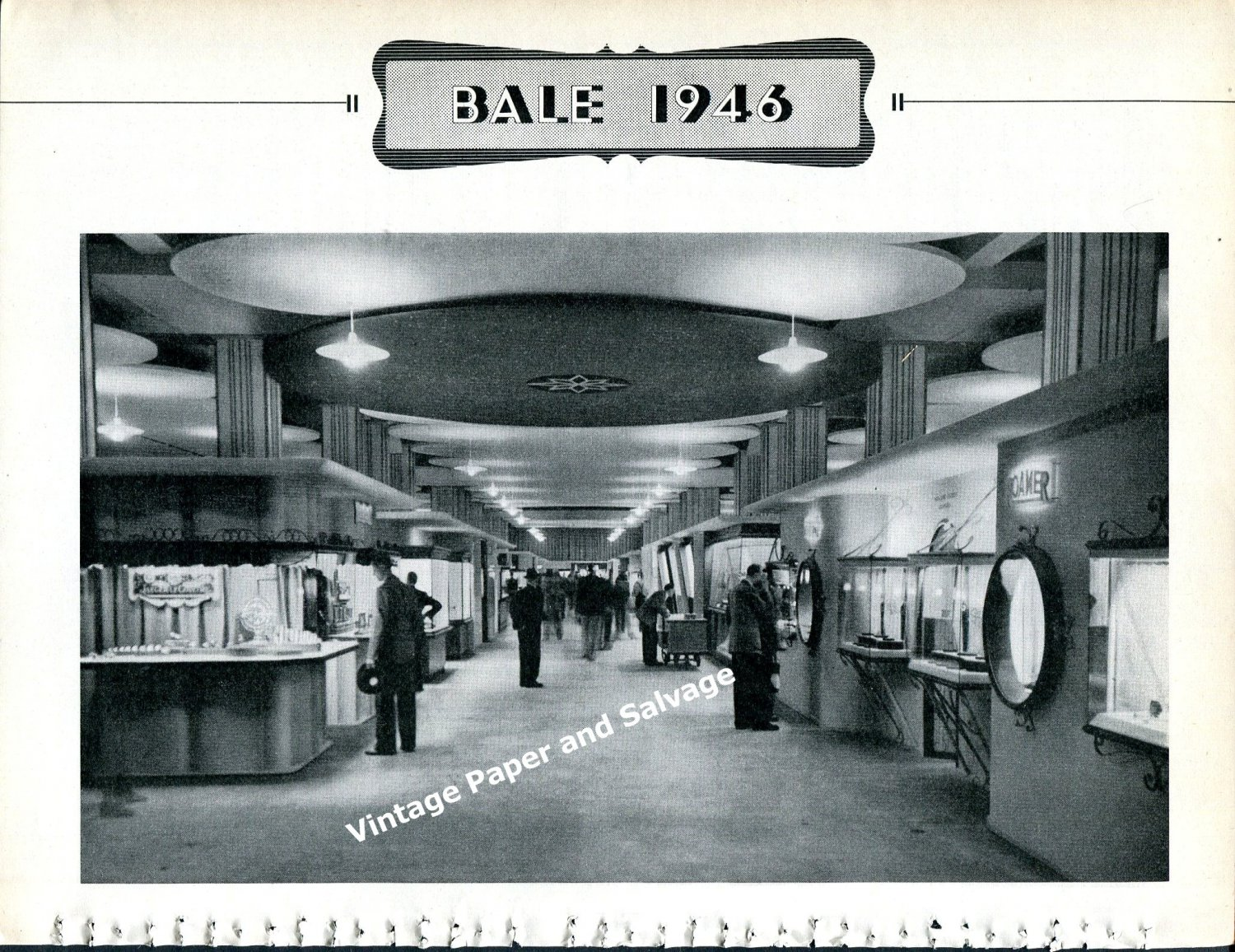 Vintage 1946 Swiss Watch Fair Basel Switzerland Exhibitor Photos Foire de Bale Suisse