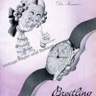 Vintage 1942 Breitling Watch Company Montbrillant Switzerland 1940s Swiss Ad Advert Suisse