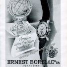 Vintage 1942 Ernest Borel & Co SA Watch Company Switzerland 1940s Swiss Ad Advert Suisse