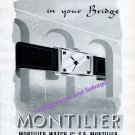1942 Montilier Watch Company Switzerland The Best Card in Your Bridge 1940s Swiss Print Ad Suisse