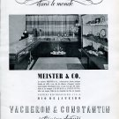 Vintage 1942 Vacheron Constantin Watch Co Switzerland Meister & Co Vintage Swiss Ad Advert Suisse