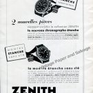 Vintage 1942 Zenith Watch Company Switzerland 1940s Swiss Ad Advert Suisse Suiza