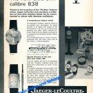 1964 Jaeger-LeCoultre 838 Watch Advert Vintage 1960s Swiss Print Ad Publicite Suisse