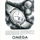 Vintage 1943 Omega Watch Company 30mm Precision Record 1940s Swiss Print Ad Advert