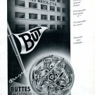 Vintage 1943 Buttes Watch Company Switzerland 1940s Swiss Ad Advert Suisse Schweiz
